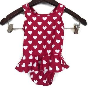 Baby Gap Heart Print Infant Swimsuit 6-12 months